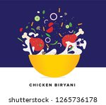 chicken biryani vector... | Shutterstock .eps vector #1265736178