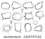 comic bubbles. speech cartoon...   Shutterstock .eps vector #1265737132