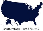 the map of the usa  silhouette... | Shutterstock .eps vector #1265738212