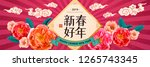 happy new year banner in... | Shutterstock .eps vector #1265743345