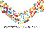 cute floral pattern with simple ... | Shutterstock .eps vector #1265754778