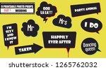 photo booth props vector... | Shutterstock .eps vector #1265762032