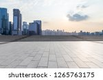 panoramic skyline and modern... | Shutterstock . vector #1265763175