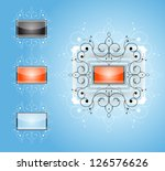 abstract shapes with frames.... | Shutterstock .eps vector #126576626