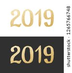 new year 2019. golden text with ...   Shutterstock .eps vector #1265766748