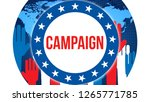campaign election on a world... | Shutterstock . vector #1265771785