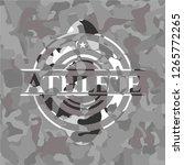 athlete on grey camo texture | Shutterstock .eps vector #1265772265