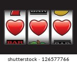 Triple hearts Valentine slot machine