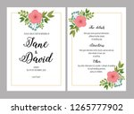 wedding invitations set with... | Shutterstock .eps vector #1265777902