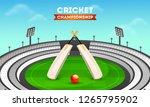 cricket championship banner or... | Shutterstock .eps vector #1265795902