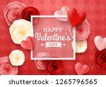 valentines day greeting card... | Shutterstock .eps vector #1265796565