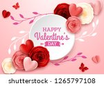 valentines day greeting card... | Shutterstock .eps vector #1265797108