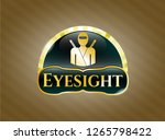 gold emblem with ninja icon... | Shutterstock .eps vector #1265798422