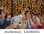 group of happy young people... | Shutterstock . vector #126580352