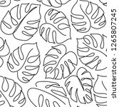 monstera leaf line art.... | Shutterstock .eps vector #1265807245