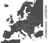 europe vector map | Shutterstock .eps vector #12658096