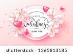 happy valentine's day festive... | Shutterstock .eps vector #1265813185