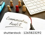 communication audit written in... | Shutterstock . vector #1265823292