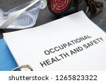 occupational health and safety... | Shutterstock . vector #1265823322