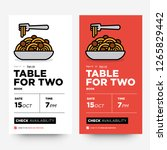 book a table app with pasta... | Shutterstock .eps vector #1265829442