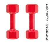 Red dumbbell for fitness...