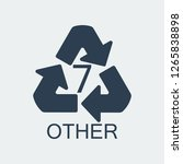 plastic recycling symbol other... | Shutterstock . vector #1265838898