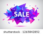 raster copy set of sale faceted ... | Shutterstock . vector #1265842852