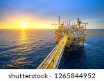 offshore oil and gas rig... | Shutterstock . vector #1265844952
