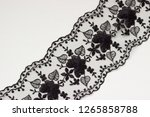 black lace on white background  ... | Shutterstock . vector #1265858788