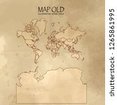 old world map with vintage... | Shutterstock .eps vector #1265861995