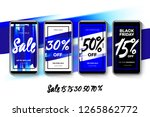 set of sale web banners for... | Shutterstock .eps vector #1265862772
