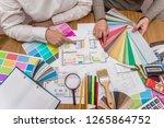 designer working with color... | Shutterstock . vector #1265864752