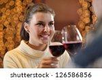 romantic evening date in... | Shutterstock . vector #126586856