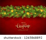 holiday decorations with... | Shutterstock . vector #1265868892