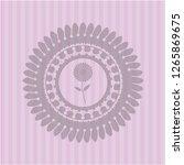flower icon inside retro style... | Shutterstock .eps vector #1265869675