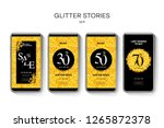 set of sale web banners for... | Shutterstock .eps vector #1265872378