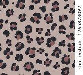 animal leopard seamless hand... | Shutterstock . vector #1265873092