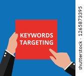 text keywords targeting. vector ... | Shutterstock .eps vector #1265873395