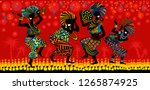 dance of the papuans. dancing... | Shutterstock .eps vector #1265874925