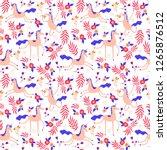 magic unicron seamless pattern... | Shutterstock .eps vector #1265876512