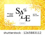 gold sale background in frame.... | Shutterstock .eps vector #1265883112