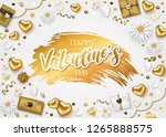 valentines day composition with ... | Shutterstock .eps vector #1265888575