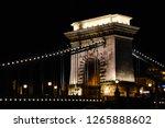 chain bridge in the night ... | Shutterstock . vector #1265888602