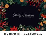 elegant frame or border made of ... | Shutterstock .eps vector #1265889172