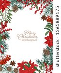 christmas greeting card... | Shutterstock .eps vector #1265889175