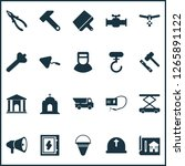 construction icons set with... | Shutterstock .eps vector #1265891122