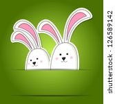 simple card with simple easter... | Shutterstock .eps vector #126589142