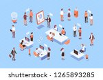teamwork  cooperation. office... | Shutterstock .eps vector #1265893285