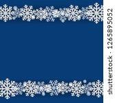 winter snowflake blue... | Shutterstock .eps vector #1265895052