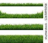 green grass borders set white... | Shutterstock .eps vector #1265895058
